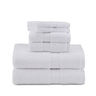 Under the Canopy Organic Cotton 6 Piece Towel Set Color: Optical White