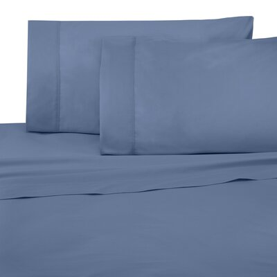 Cotton Pillow Case Size: King, Color: Blue
