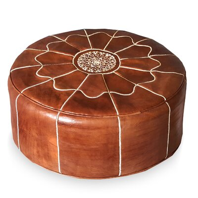 Giant Moroccan Leather Pouf