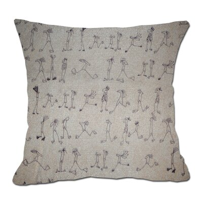 Stick Figures Decorative Toss Throw Pillow