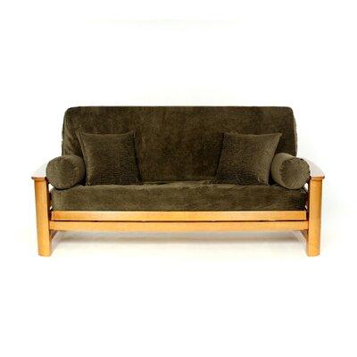 Box Cushion Futon Slipcover Upholstery: Sage