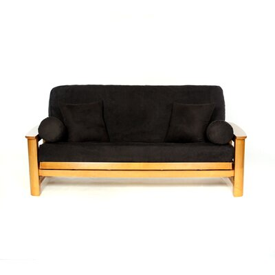Sussex Box Cushion Futon Slipcover Upholstery: Black