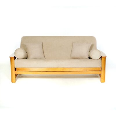 Sussex Box Cushion Futon Slipcover Upholstery: Buck