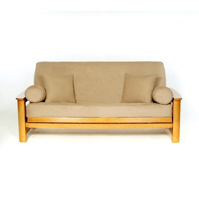 Sussex Box Cushion Futon Slipcover Upholstery: Camel
