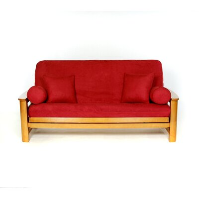 Sussex Box Cushion Futon Slipcover Upholstery: Cinn