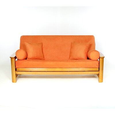 Sussex Box Cushion Futon Slipcover Upholstery: Mandarin