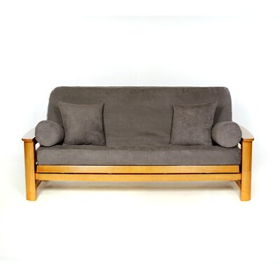 Sussex Box Cushion Futon Slipcover Upholstery: Mercury