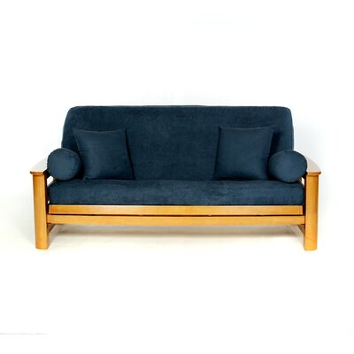 Sussex Box Cushion Futon Slipcover Upholstery: Navy