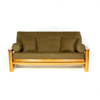 Sussex Box Cushion Futon Slipcover Upholstery: Olive