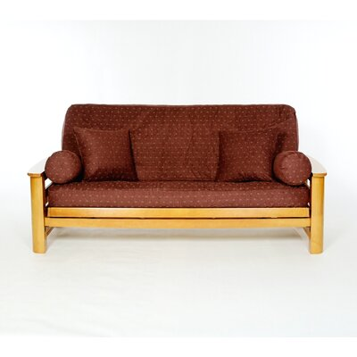 Claret Box Cushion Futon Slipcover
