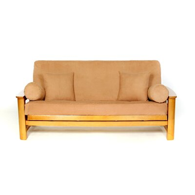 Sussex Box Cushion Futon Slipcover Upholstery: Rust