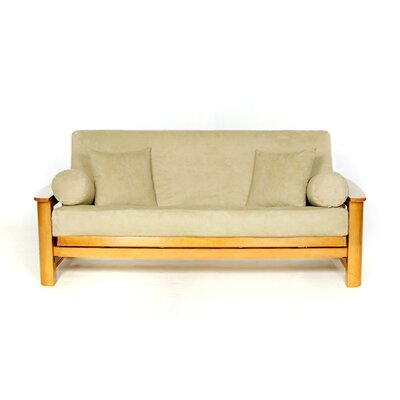 Sussex Box Cushion Futon Slipcover Upholstery: Sage