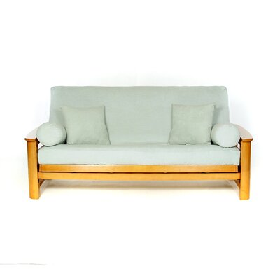 Sussex Box Cushion Futon Slipcover Upholstery: Seafoam