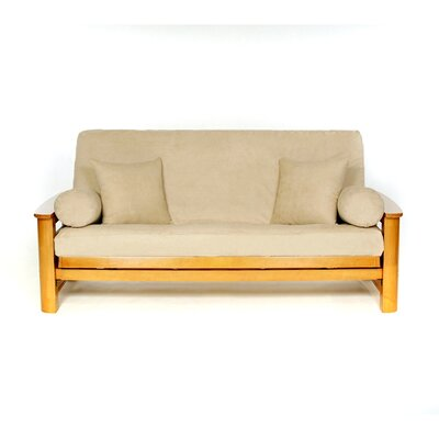 Sussex Box Cushion Futon Slipcover Upholstery: Stone
