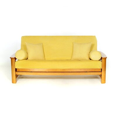 Sussex Box Cushion Futon Slipcover Upholstery: Sun