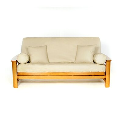 Full Box Cushion Futon Slipcover Upholstery: Buff