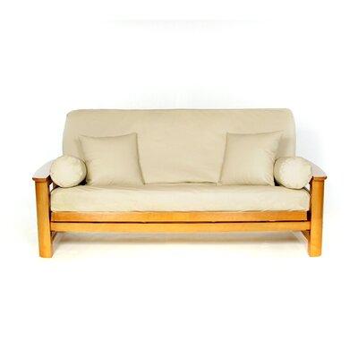Full Box Cushion Futon Slipcover Upholstery: Buff