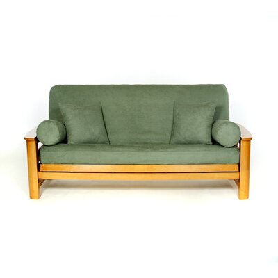 Sussex Box Cushion Futon Slipcover Upholstery: Teal