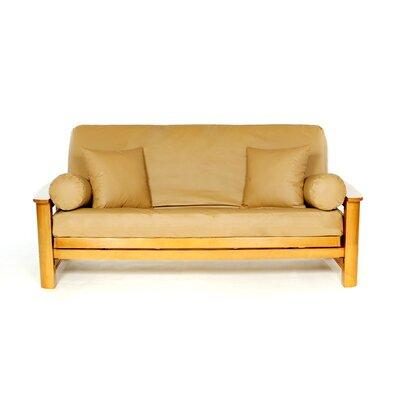 Full Box Cushion Futon Slipcover Upholstery: Camel