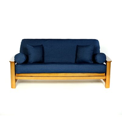 Jean Box Cushion Futon Slipcover Upholstery: Real Denim Dark