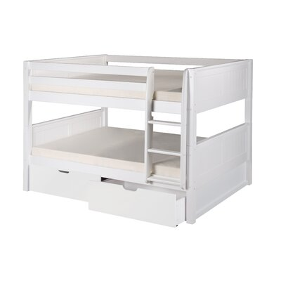 Camaflexi Full over Full Bunk Bed with Storage Color: White
