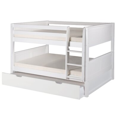 Camaflexi Full over Full Bunk Bed with Trundle Finish: White