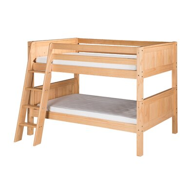 Twin over Twin Bunk Bed Color: Natural