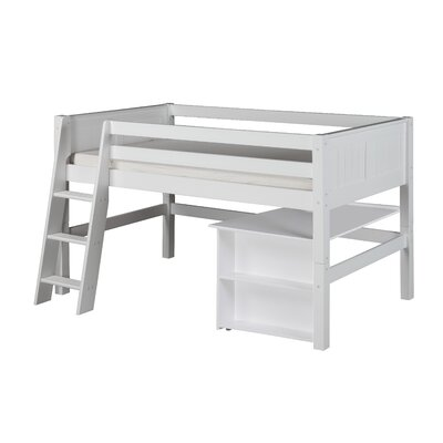 Camaflexi Twin Low Loft Bed Color: White