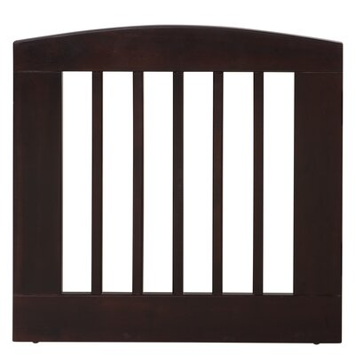 Gale Single Panel Pet Gate Size: Medium (24 H x 24 W x 0.75 L), Finish: Cappuccino