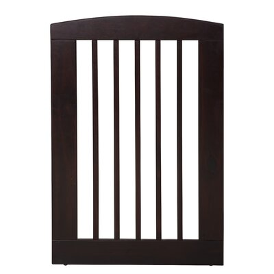 Gale Single Panel Pet Gate Size: Large (36 H x 24 W x 0.75 L), Finish: Cappuccino