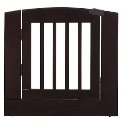 Ruffluv Individual Panel Dog Gate with Door Size: Medium (24 H x 24 W x 0.75 L), Finish: Cappuccino