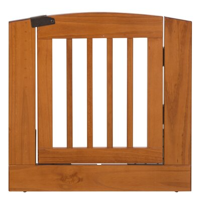 Max Individual Panel Dog Gate with Door Size: Medium (24 H x 24 W x 0.75 L), Finish: Chestnut