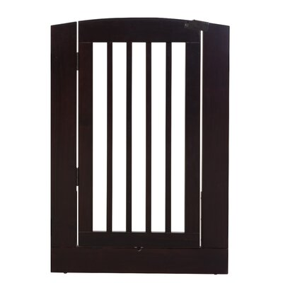 Ruffluv Individual Panel Dog Gate with Door Finish: Cappuccino, Size: Large (36 H x 24 W x 0.75 L)