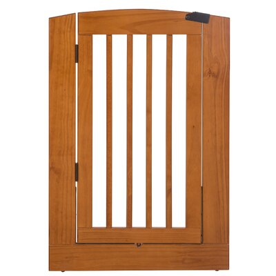 Max Individual Panel Dog Gate with Door Size: Large (36 H x 24 W x 0.75 L), Finish: Chestnut