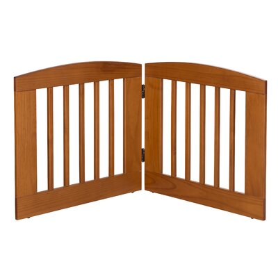 Gale 2 Panel Expansion Dog Gate Size: Medium (24 H x 48 W x 0.75 L), Finish: Chestnut