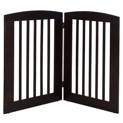 Gale 2 Panel Expansion Dog Gate Size: Large (36 H x 48 W x 0.75 L), Finish: Cappuccino