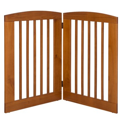 Ruffluv 2 Panel Expansion Dog Gate Size: Large (36 H x 48 W x 0.75 L), Finish: Chestnut