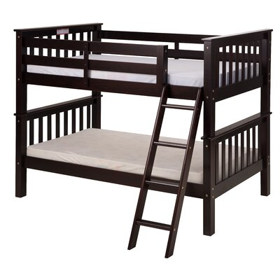 Santa Fe Mission Twin over Twin Bunk Bed Color: Cappuccino