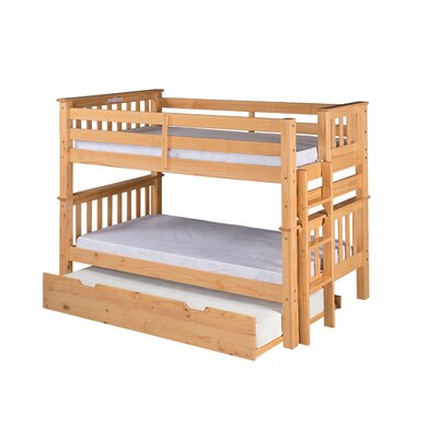 Santa Fe Mission Twin Bunk Bed with Trundle Finish: Natural