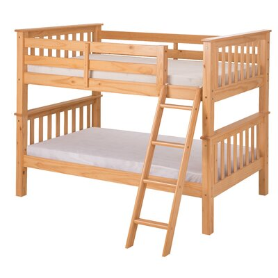 Santa Fe Mission Twin Bunk Bed Finish: Natural
