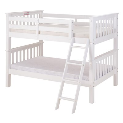 Santa Fe Mission Twin over Twin Bunk Bed Color: White