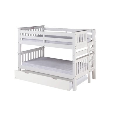 Santa Fe Mission Twin over Twin Bunk Bed with Trundle Color: White