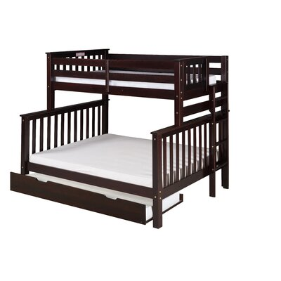 Santa Fe Mission Tall Bunk Bed with Trundle Finish: Cappuccino, Size: Twin Over Full