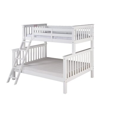 Santa Fe Mission Twin Bunk Bed Finish: White