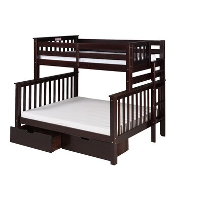 Santa Fe Mission Tall Bunk Bed with Storage Size: Twin Over Full, Color: Cappuccino