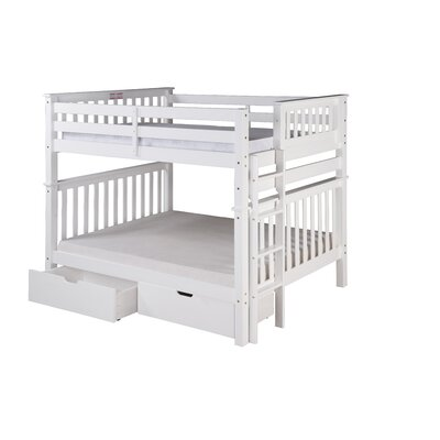 Santa Fe Mission Tall Bunk Bed with Storage Finish: White, Size: Full Over Full