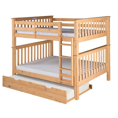 Santa Fe Mission Bunk Bed with Trundle Finish: Natural, Size: Twin Over Twin
