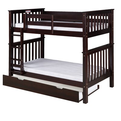 Santa Fe Mission Bunk Bed with Trundle Size: Twin Over Twin, Color: Cappuccino