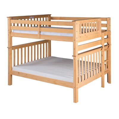 Santa Fe Mission Tall Bunk Bed Finish: Natural, Size: Full Over Full
