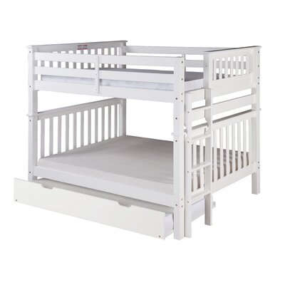Santa Fe Mission Tall Bunk Bed with Trundle Size: Twin Over Full, Color: White